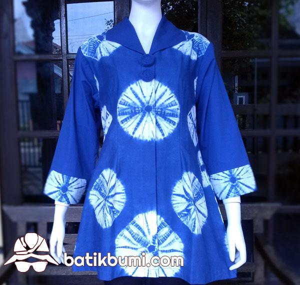 Tunik Batik SHIBORI Biru
