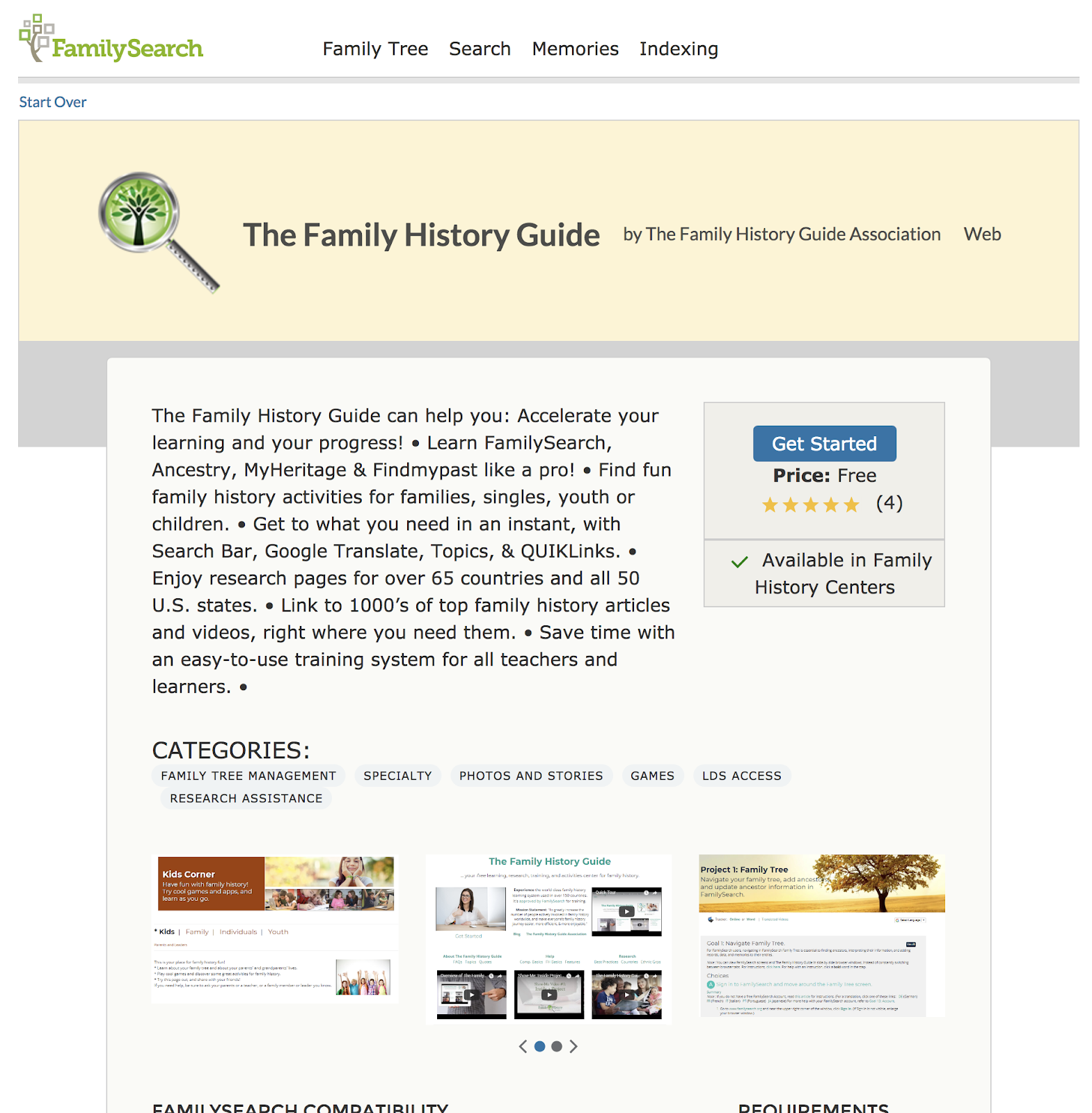 Genealogy's Star: The New FamilySearch Solutions Gallery