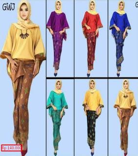 model baju batik setelan rok panjang terbaru