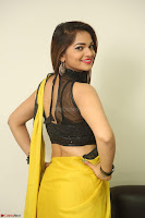Cute Actress Ashwini in Yellow Saree Exclusive  053.JPG