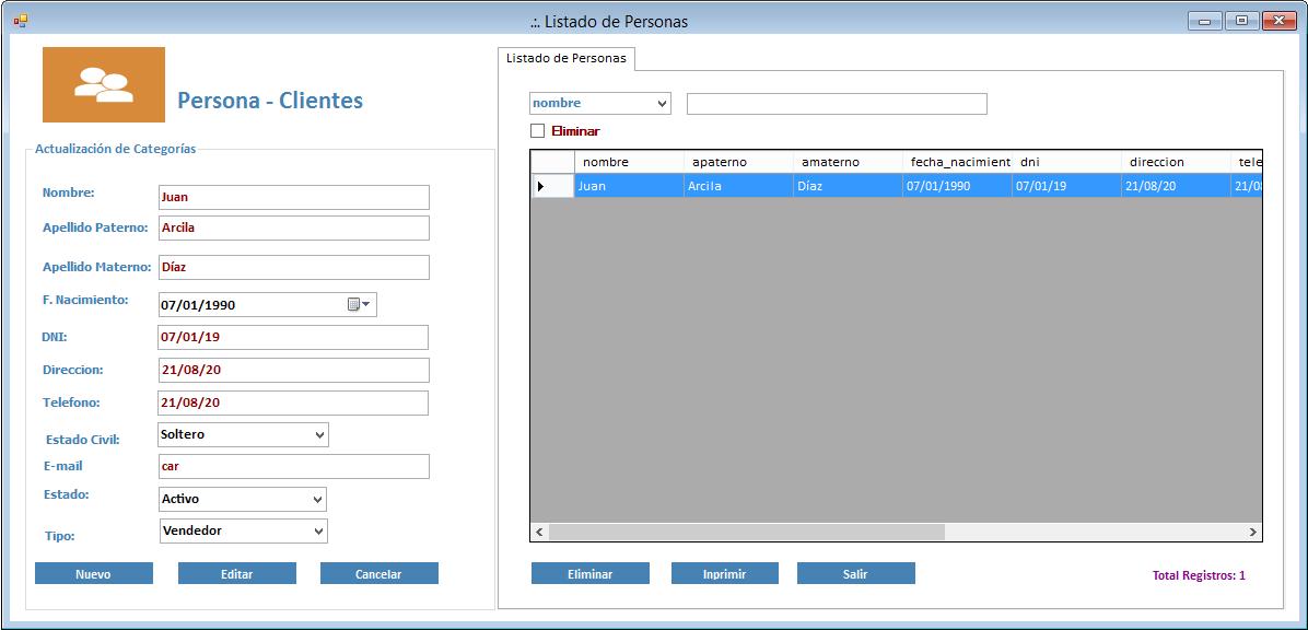 20e8a4fbe2a56 Formulario de Registro de Clientes. Sistema de Ventas en Visual Studio ...