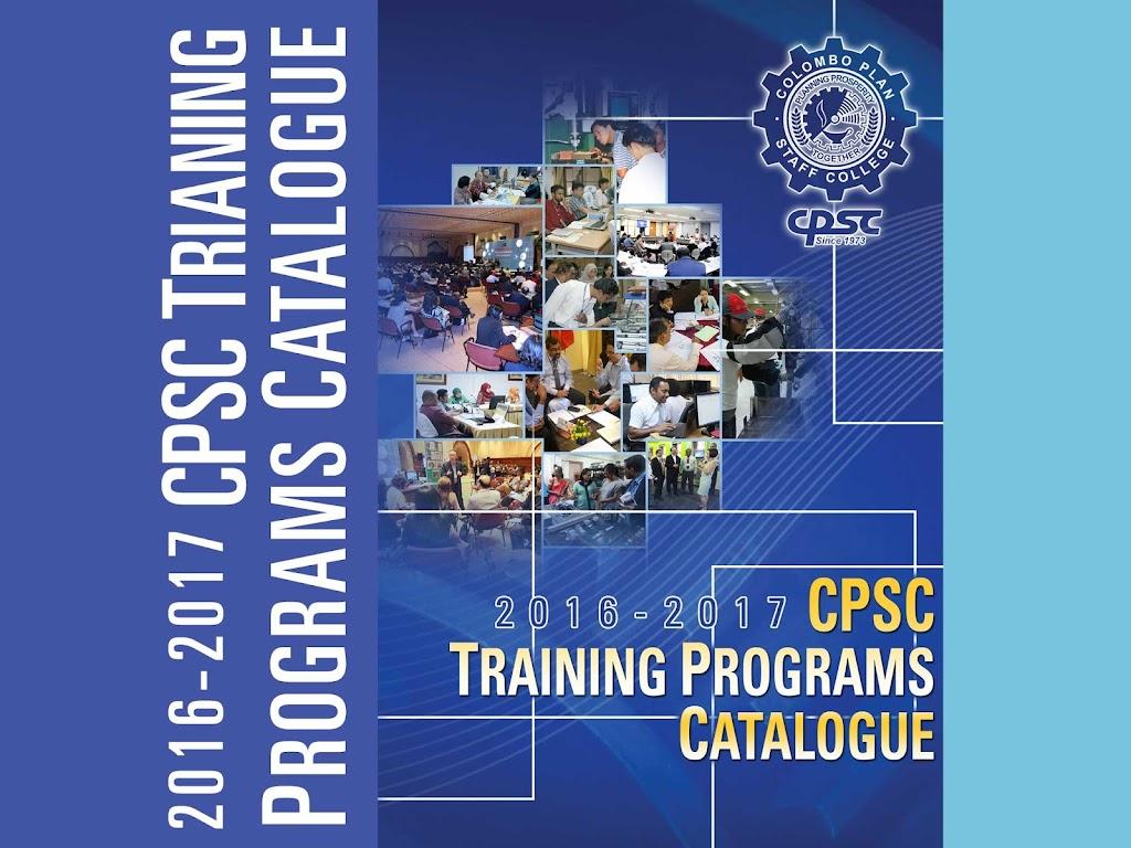 CPSC Training Programs Catalogue 2016-2017