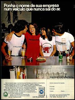 camisetas Hering; moda anos 70; propaganda anos 70; história da década de 70; reclames anos 70; brazil in the 70s; Oswaldo Hernandez
