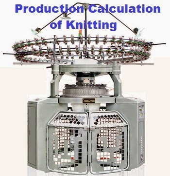 Production Calculation for Knitting