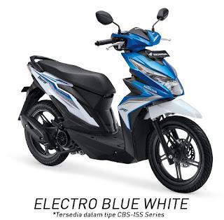 Honda BeAT eSP CBS ISS (Electro Blue White)