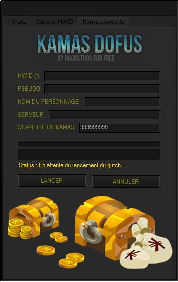 logiciel dofus kamas generator v 6.0