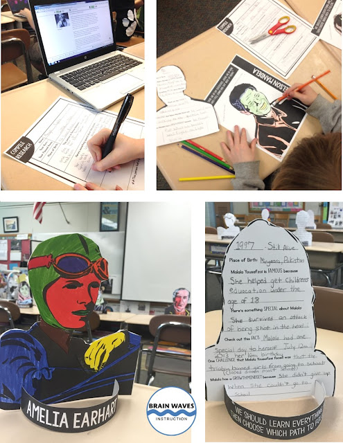 During this project, students will first learn about growth mindset by reading an informational article about Carol Dweck's work. Then, they'll select a famous person in history with a growth mindset.