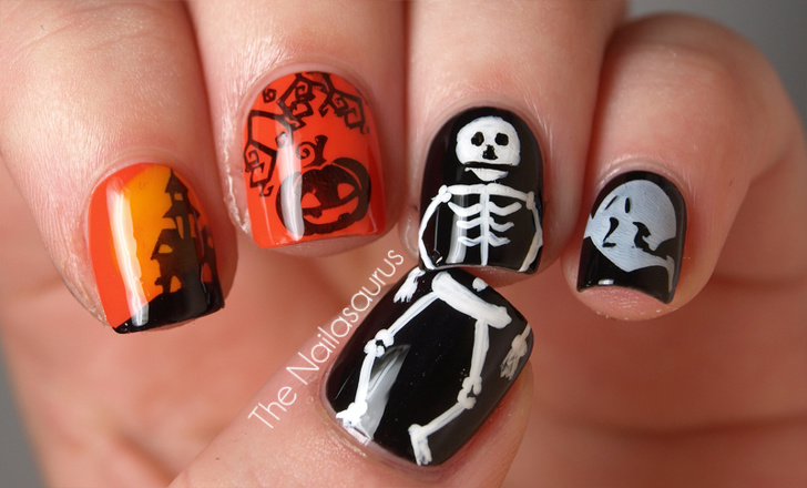 26 Inspiring Nail Designs For A Stunningly Spooky Halloween Look