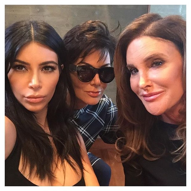 Kim Kardashian put selfies with Kris and Caitlyn and with the sisters
