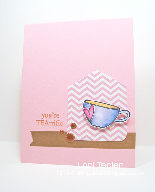 You're TEArrific card-designed by Lori Tecler/Inking Aloud-stamps from Jane's Doodles