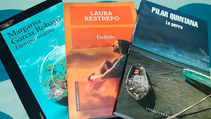Tres escritoras colombianas recomendadas: Margarita García Robayo, Laura Restrepo y Pilar Quintana.