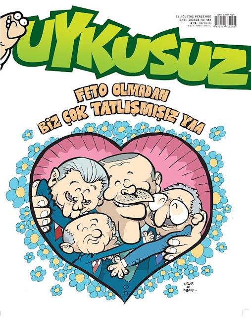 Uykusuz Dergisi - 11 Ağustos 2016 Kapak Karikatürü