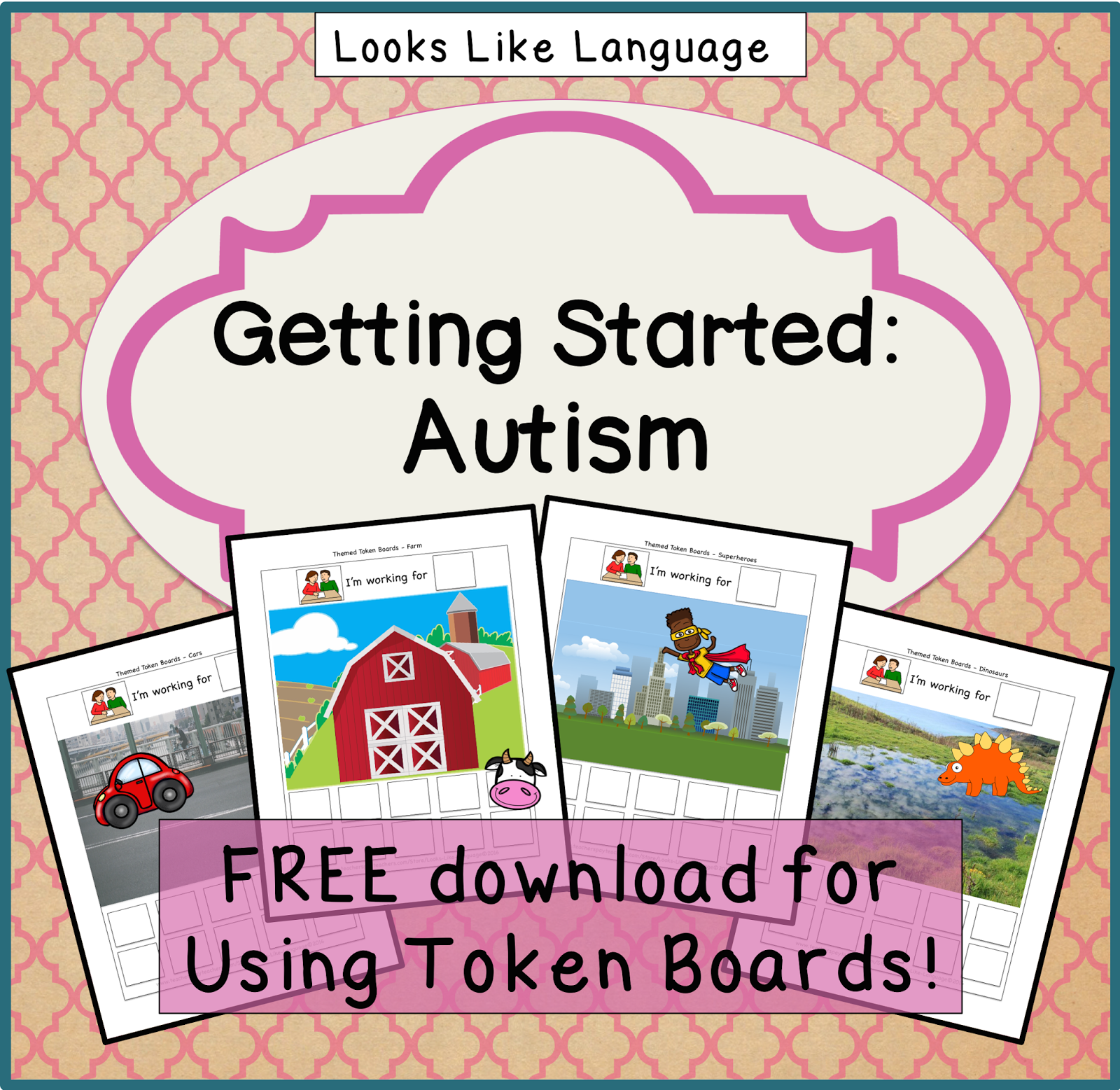 graphic regarding Token Board Printable identified as Absolutely free Themed Token Forums for Autism- Dinosaurs! \u003c!--Cant