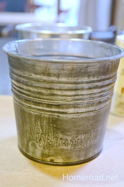 Shiny metal pails from Ikea get a new look