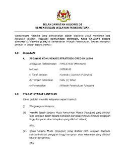 Kementerian Wilayah Persekutuan Kerja Kosong