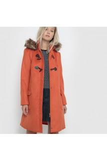 palton dama cu gluga cu blana de iarna gros