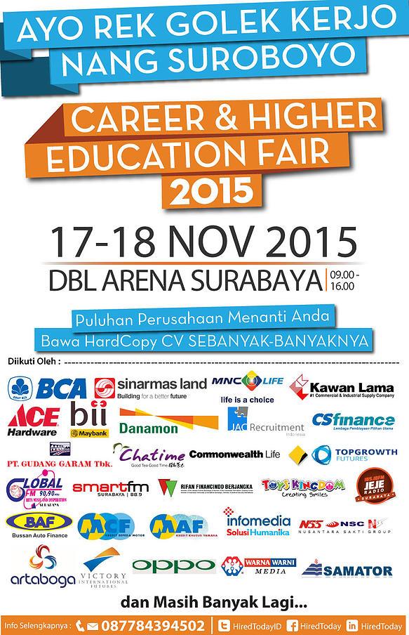 Lowongan Kerja - Career & Higher Education Fair – November