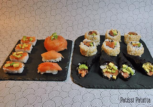 tutoriel pour faire des makis californiens, recette de makis californiens, temakis, dômes japonais, sushis, cuisine japonaise, recette japonaise, california rolls,
