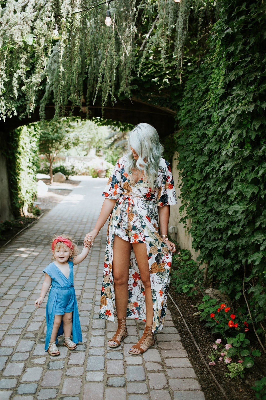 Mommy and Me, Rompers, Gladiator Sandals