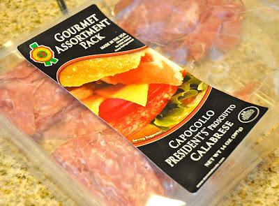 prosciutto wrapped around asparagus: Prosciutto in a plastic bag