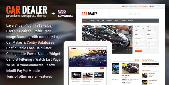 تحميل قالب  Car Dealer v1.4.3 المدفوع مجانا WORDPRESS THEME 2018