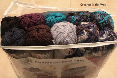 beanie, Black Friday, Bulky yarn, Charisma, crochet, Cyber Monday, discount, easy, for sale, hat, Loops & Threads, pattern, size chart, slouchy, unisex, Charisma Epic Bag
