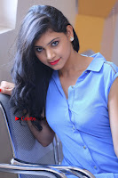 Telugu Actress Mounika UHD Stills in Blue Short Dress at Tik Tak Telugu Movie Audio Launch .COM 0169.JPG