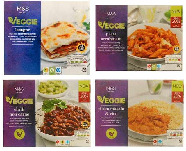 New vegetarian and vegan ready meals from M&S