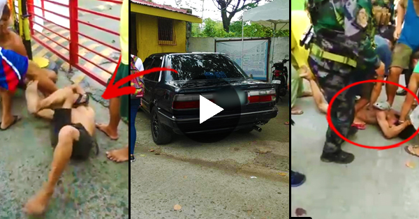 WATCH: Drug Addict Stole a Car and Almost Kidnapped a Girl! Watch What The Villagers Did When They Caught Him!