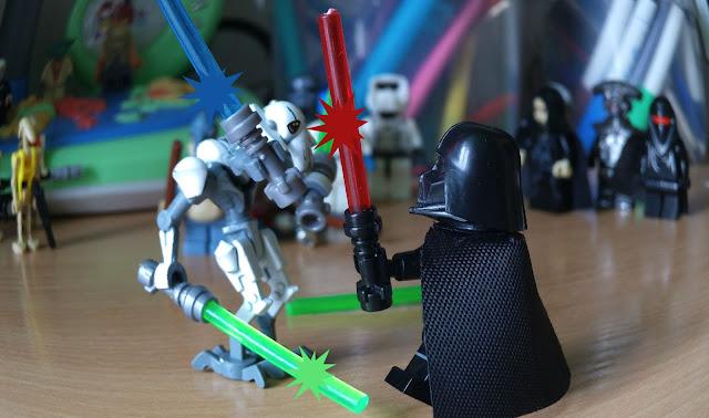 Генерал Гривус против Дарта Вейдера лего минифигурки