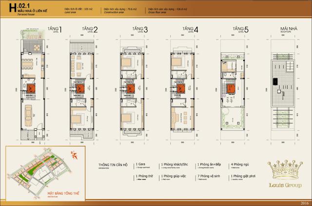 Thiết kế mẫu nhà liền kề 2