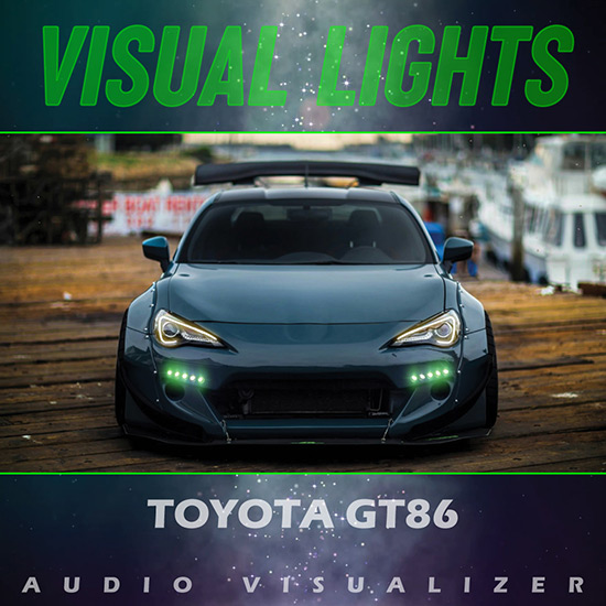 VISUAL LIGHTS - Toyota GT86 Rocket Bunny Wallpaper Engine