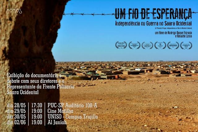 Ciclo de conferencias sobre La lucha del pueblo saharaui en Brasil