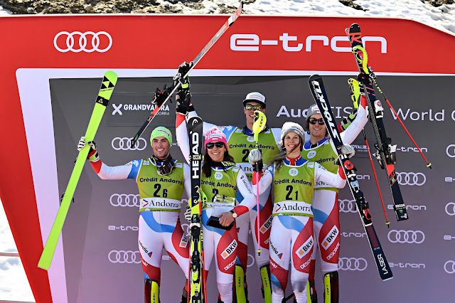 Switzerland Wins Alpine Team Event