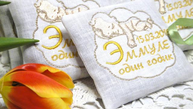 Ароматное саше с лавандой - саше в кроватку, подарки гостям. Материалы: натуральный хлопок, крымская лаванда