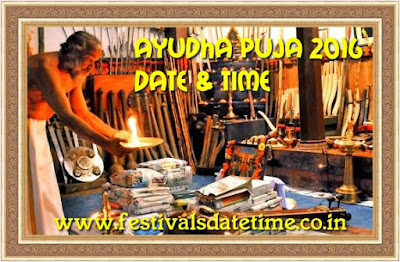 Ayudha Puja 2016 Date & Time in India