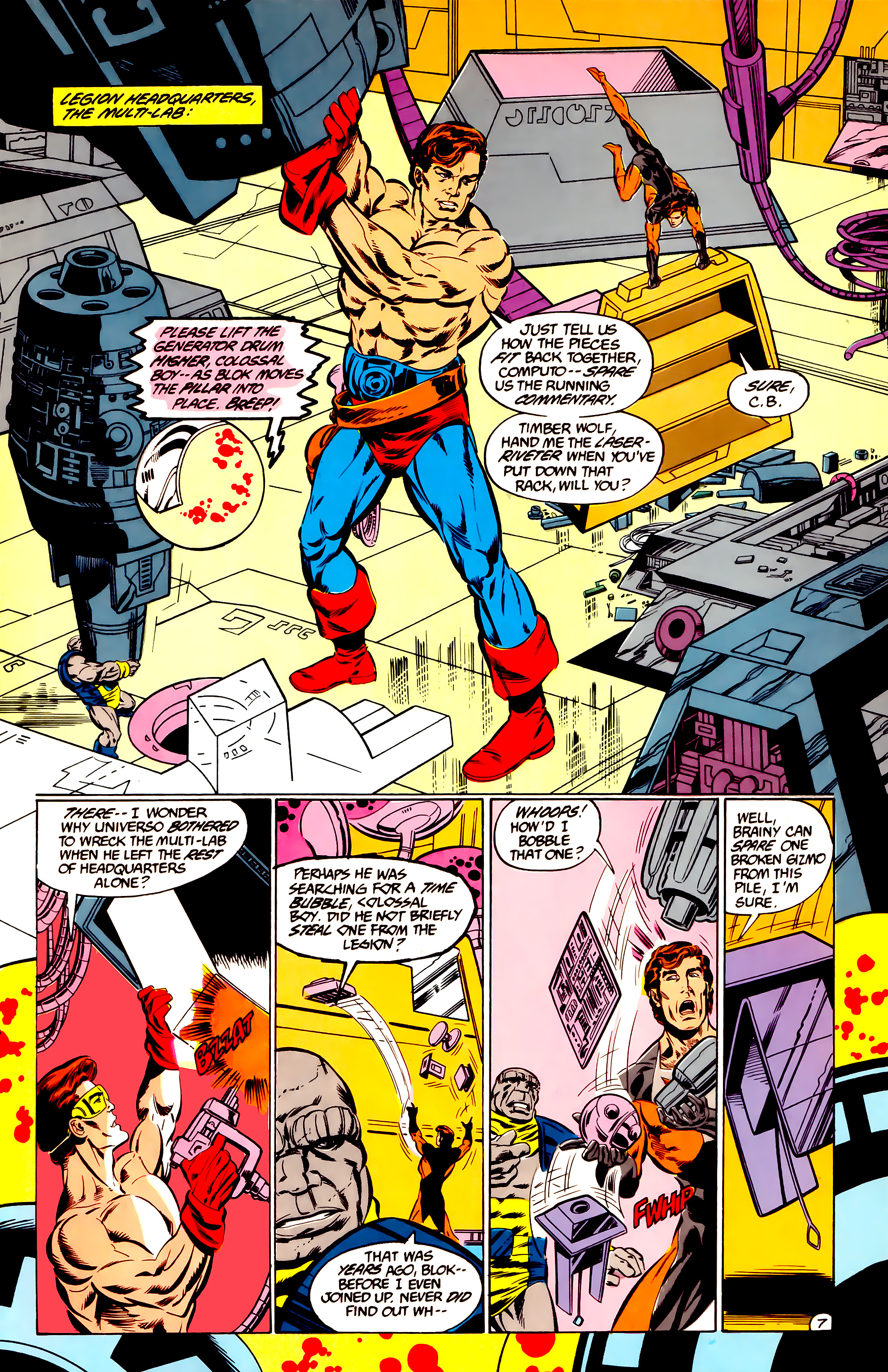 Legion of Super-Heroes (1984) 36 Page 7