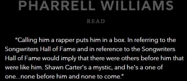 Pharrell Williams Respect Jay Z's Induction Into Songwriter's Hall Of Fame