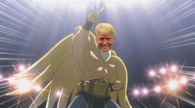 President Donald Trump The Amazing Nine-Tails Phoenix Wright Ace Attorney Dual Destinies fox wrestler cutscene
