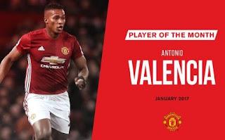 Antonio Valencia Pemain Terbaik Manchester United Januari 2017