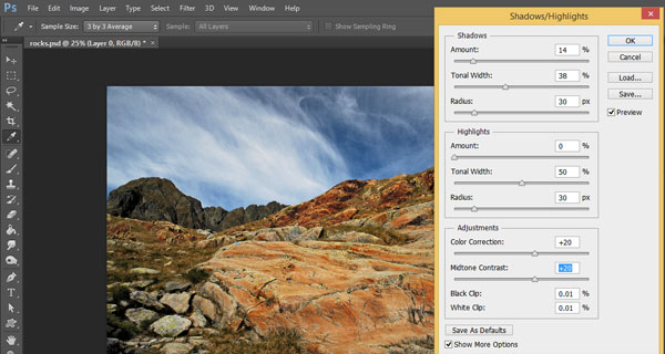 How to Apply Shadow/Highlights Adjustment Non-Destructively in Photoshop CC