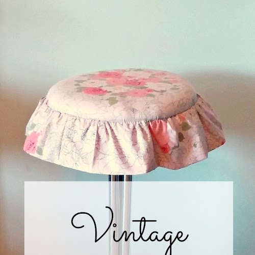 Vintage Bar Stool Makeover