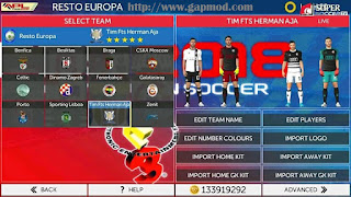 Download FTS Mod PES 2018 Full Europe By Herman Aja Apk + Data Obb
