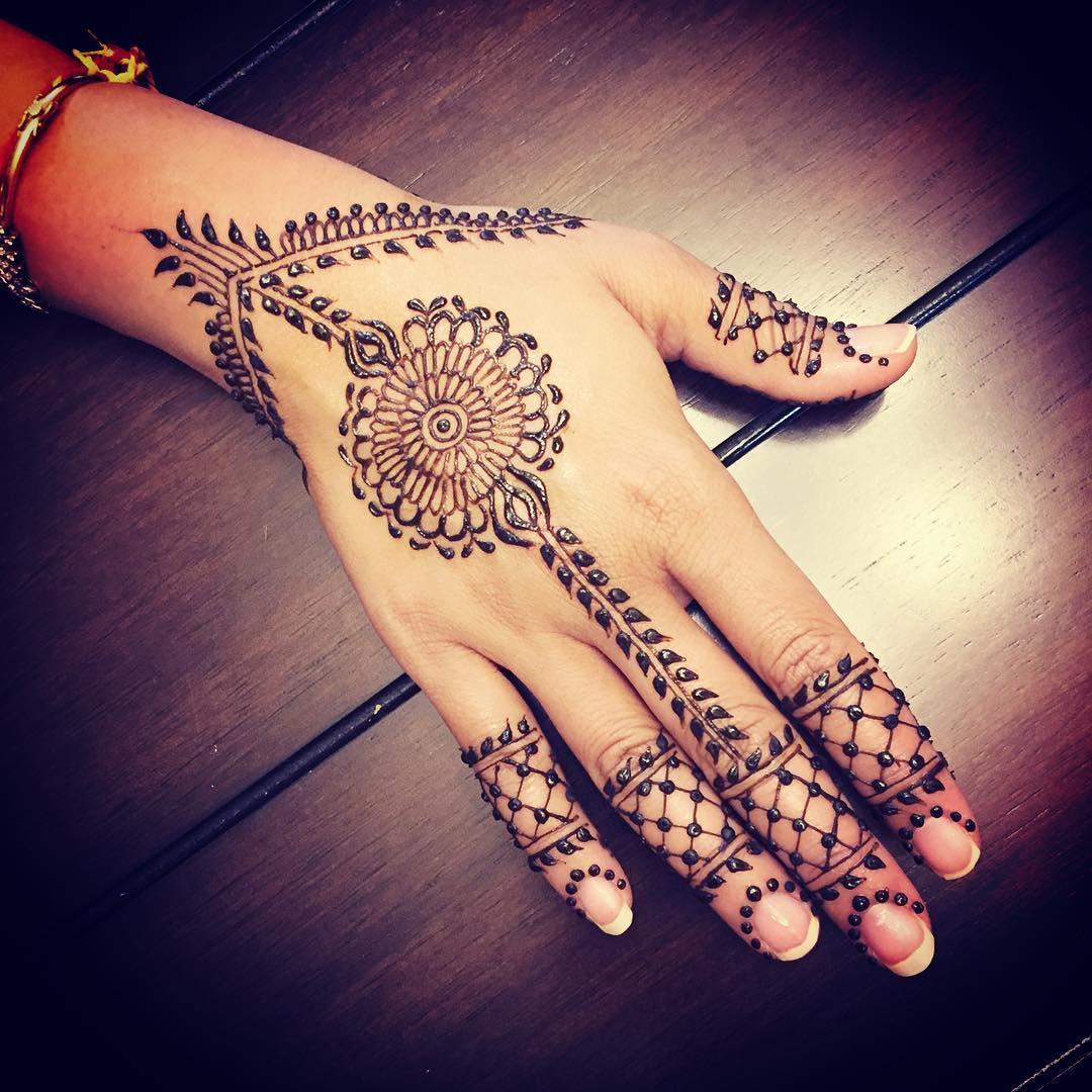 Mehndi Henna Stencils : New simple mehndi henna designs for hands buzzpk