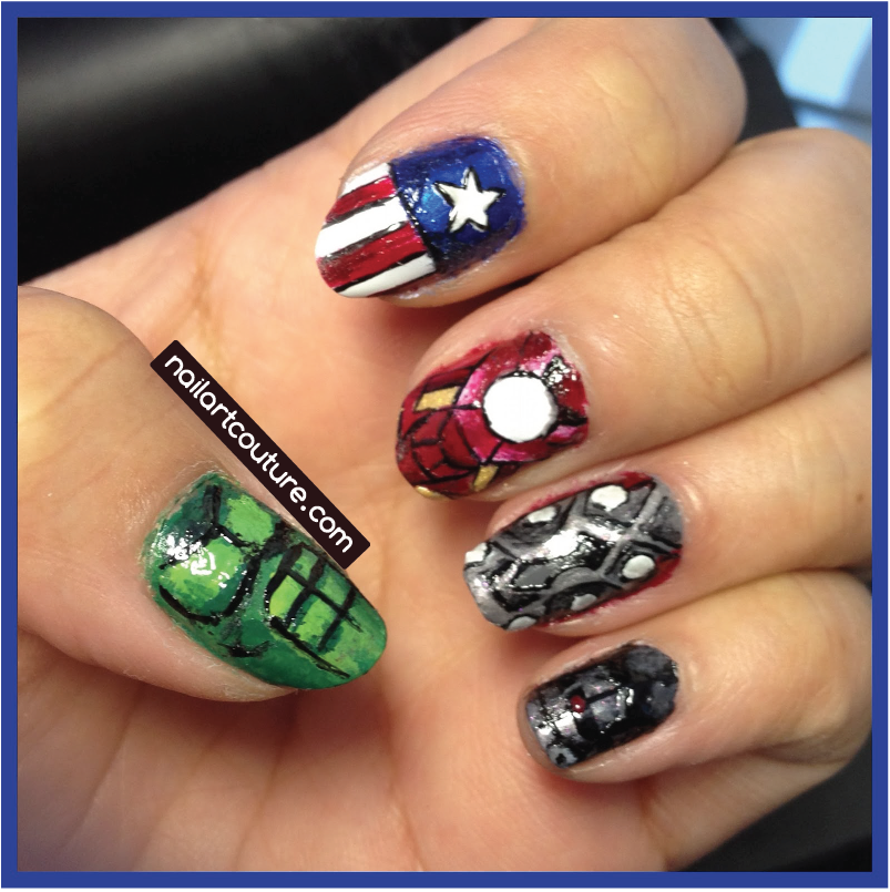 Avengers Nail Art Design