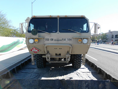 Oshkosh United States Army Fuel Servicing Truck Tanker Front