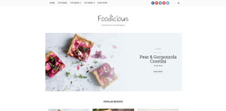 foodlicious blogger template 2018