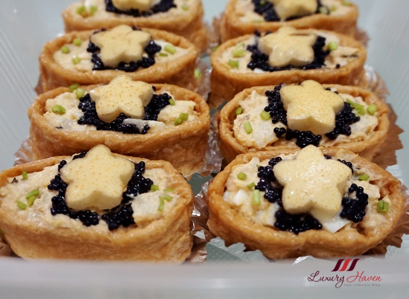 fruity inari sushi egg mayo with caviar recipe
