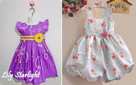 baju dress anak anak