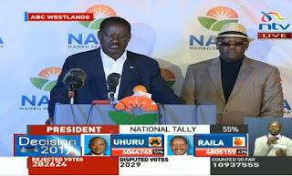 Hogaamiyaha mucaaradka ee Kenya oo qaadacay natiijada doorashada (Video)
